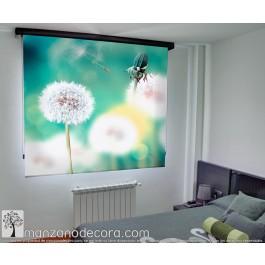 Estor Enrollable Fotográfico Dormitorio Clusia Verde