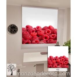 Estor Enrollable Fotográfico Cocina Colocasia Rojo