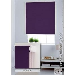 Estor Enrollable Liso Opaco Estándar Foscurit Zb Violeta 67