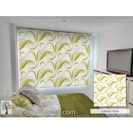 Estor Enrollable Estampado Dormitorio Oliva