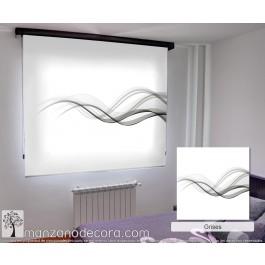 Estor Enrollable Fotográfico Dormitorio Fluorita Gris