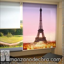 Estor Enrollable Fotográfico Ciudades Torre Eiffel 01