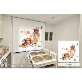 Estor Enrollable Fotográfico Cocina Crosandra Colores