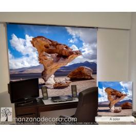 Estor Enrollable Fotográfico Despacho Blecno A Color