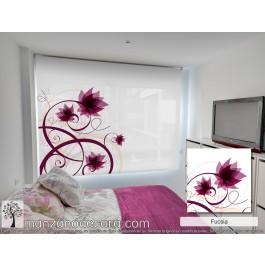 Estor Enrollable Fotográfico Dormitorio Senecio Fucsia