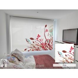 Estor Enrollable Fotográfico Dormitorio Siningia Rojo