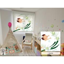 Estor Enrollable Fotográfico Infantil Field Verde