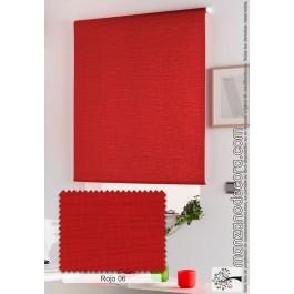 Estor Enrollable Liso Aitana Estándar Rojo 06