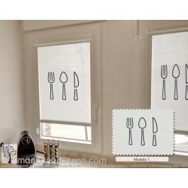 Estor Enrollable Miniroller Screen Fotográfico Cubiertos modelo 1