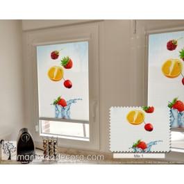 Estor Enrollable Miniroller Screen Fotográfico Fruta Al Agua Mix 1
