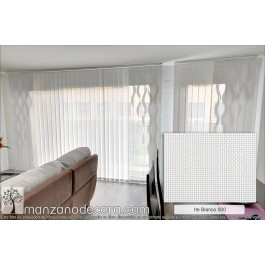 Cortina Vertical Tejido Screen Formas Ite Shaped dibujo Murano Blanco 000