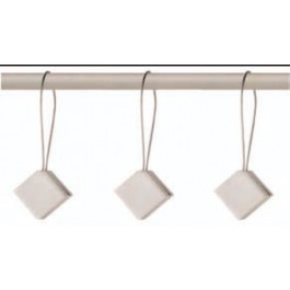 Trabilla para cortina Plata Cuadrada