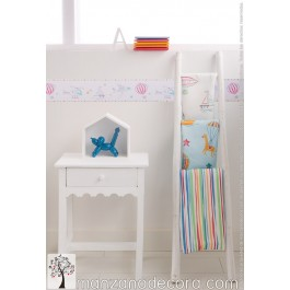 Cortina Infantil Travel Raya color 3