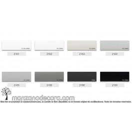 Muestra Veneciana Aluminio Colores Base Blancos y Grises