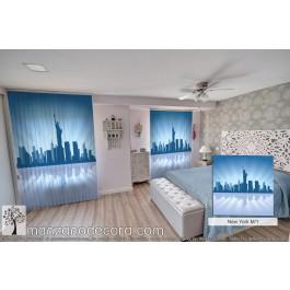 City Silhouette New York M1 Azul