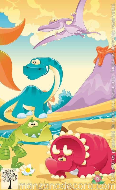 Estor enrollable fotogr fico infantiles dinosaurios 01 - Estor enrollable infantil ...