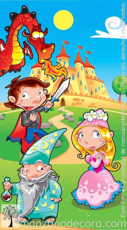 Estor enrollable fotogr fico infantiles dragones 01 - Estor enrollable infantil ...