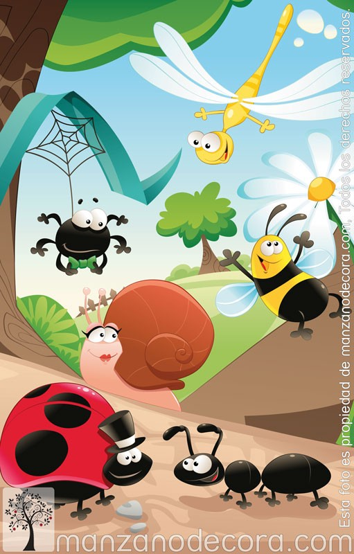 Estor enrollable fotogr fico infantiles insectos 01 - Estor enrollable infantil ...