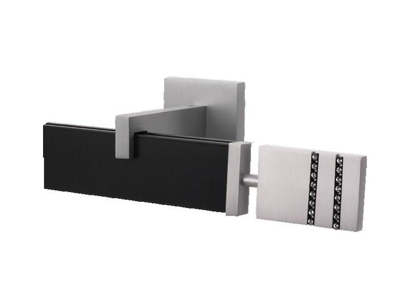 Riel Decorativo Cortina Simple Plata Mate Negro - Cortinas Manzanodecora