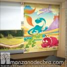 Estor Enrollable Fotográfico Infantiles Dinosaurios 01