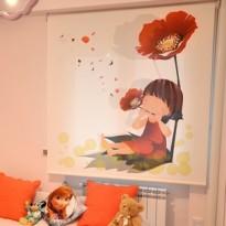 Estor Enrollable Fotográfico Infantil Maranta - Screen transparencia media