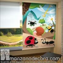 Estor Enrollable Fotográfico Infantiles Insectos 01