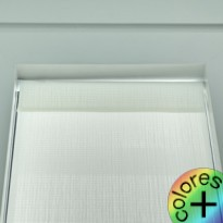 Persiana Interior Gusanillo Screen Helios Blanco 0202 Transparencia media