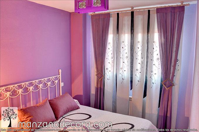 Combina la decoración de tu cortina con la de tu dormitorio