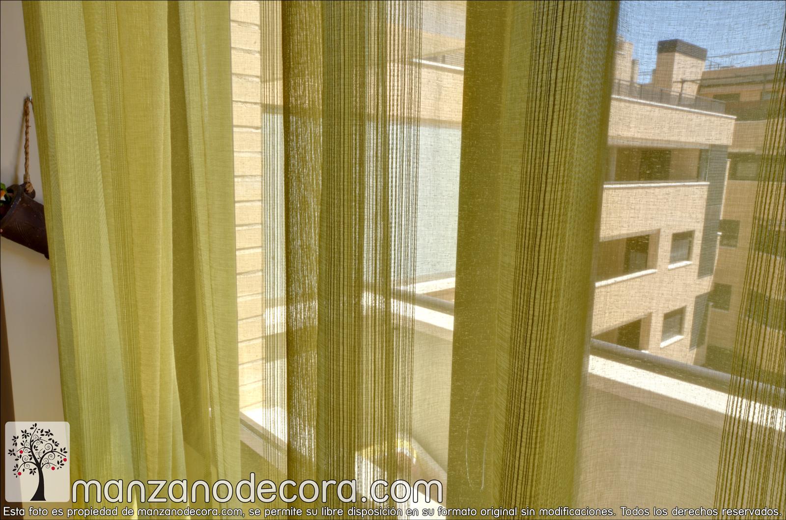 El amarillo en cortinas está de moda
