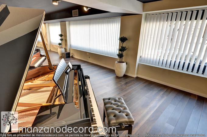 Instalación de Verticales y Estores en Hinves Pianos en Madrid