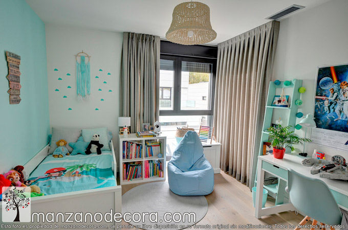 Cortinas y estores para la decoración infantil y juvenil