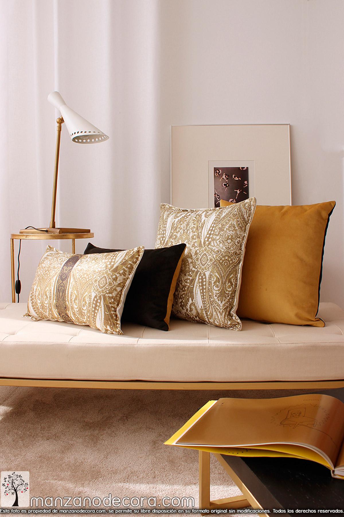 Como elegir los cojines para el salón o dormitorio