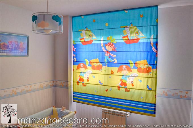 Estores infantiles para la decoración de sus dormitorios