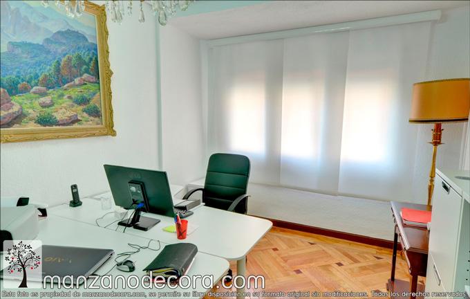 Instalación de cortinas en despacho de Madrid