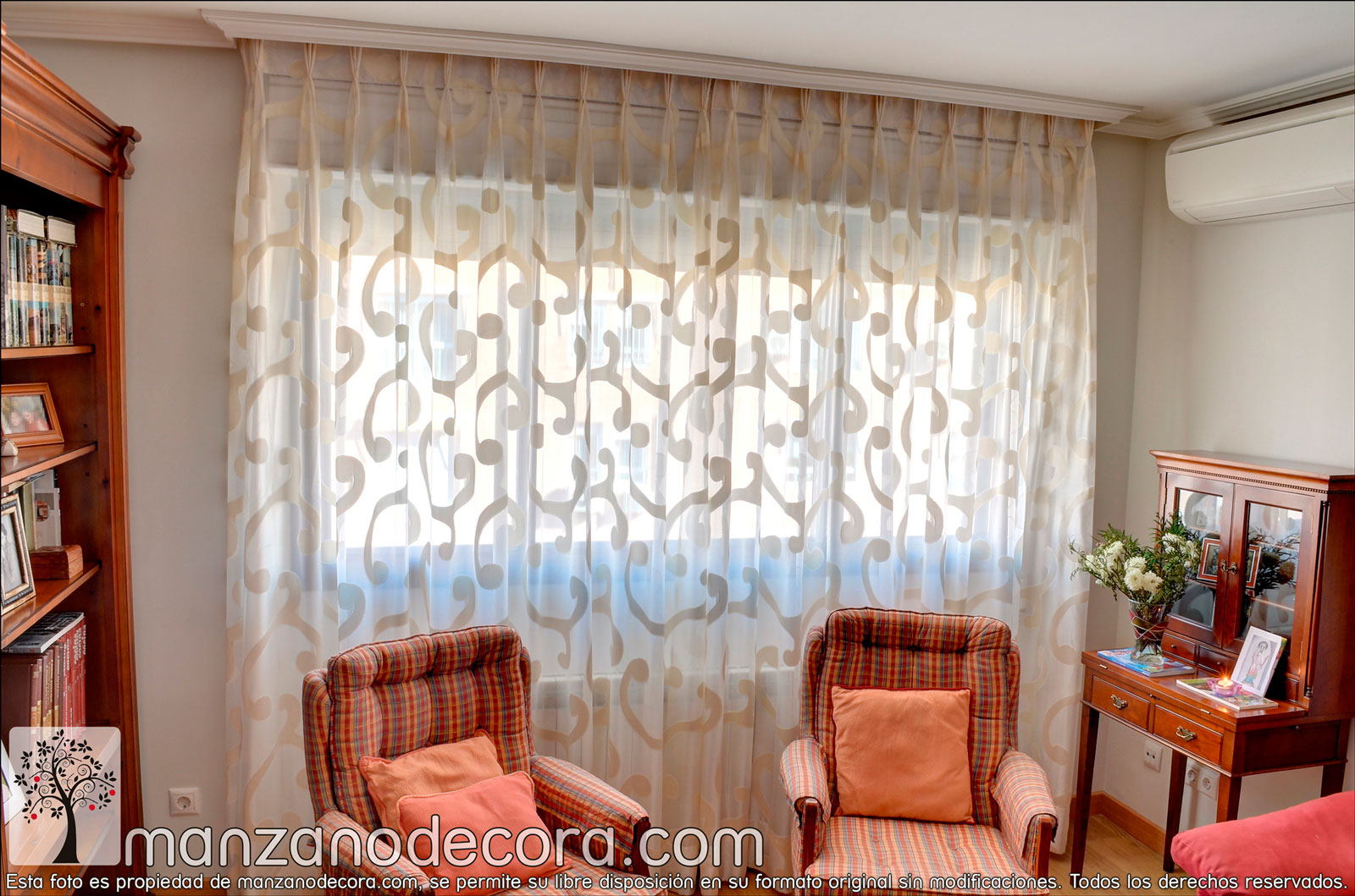 Cortinas cortinas manzanodecora - Modelos cortinas salon ...