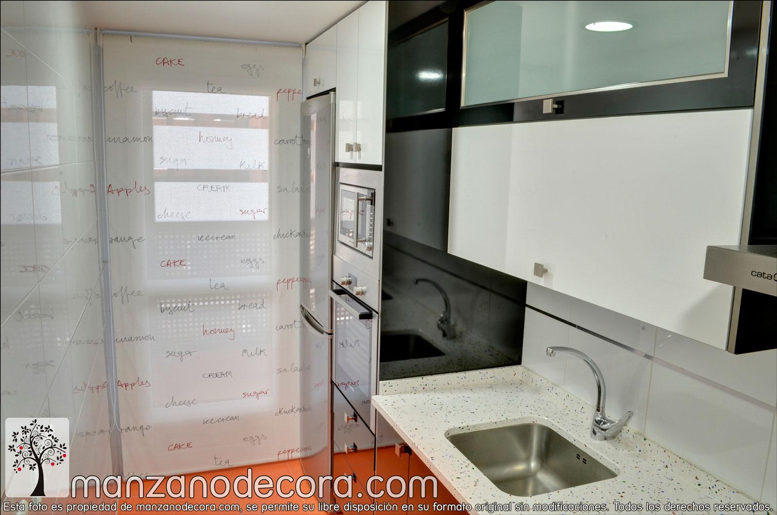 Estores cortinas manzanodecora - Estores para puertas de cocina ...