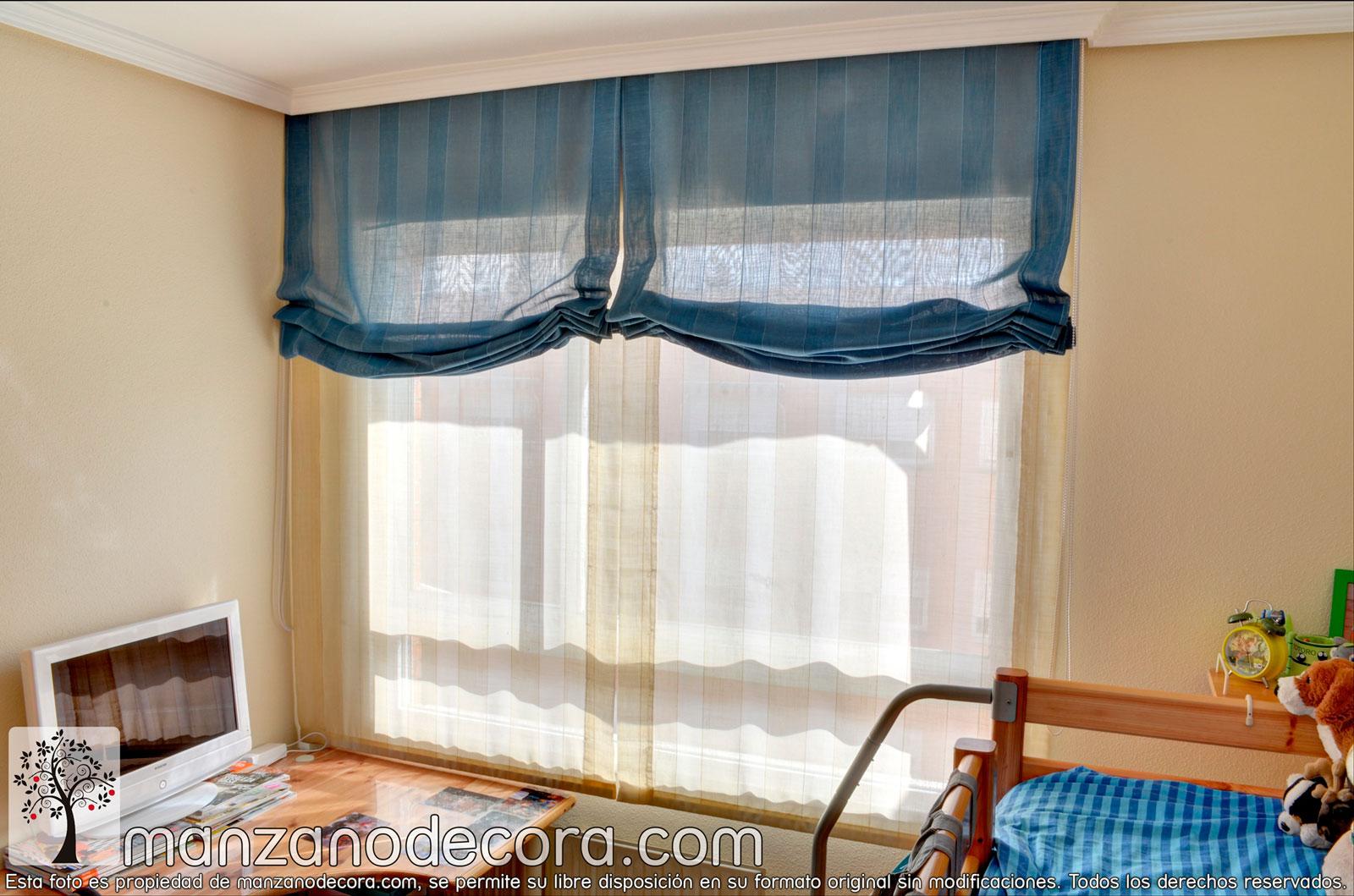 Estores cortinas manzanodecora - Sistemas de cortinas y estores ...