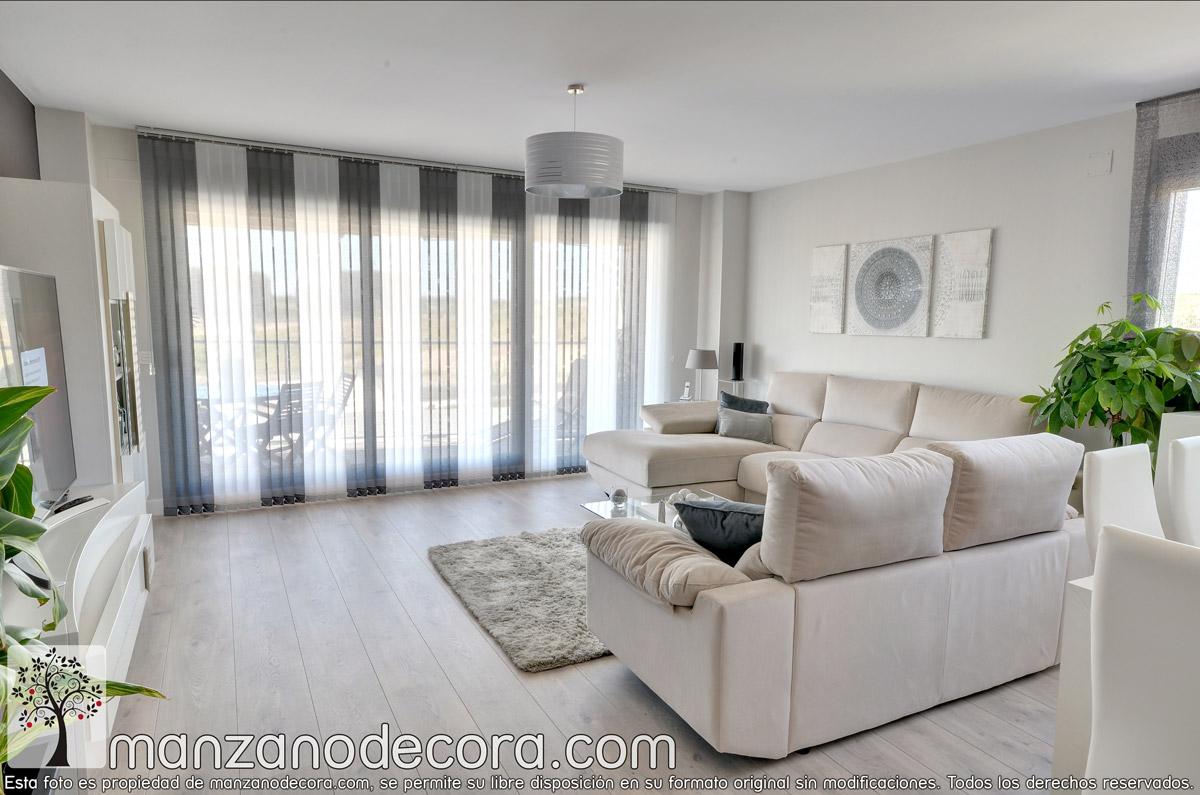 Persianas verticales de tejido cortinas manzanodecora for Cortinas verticales precio