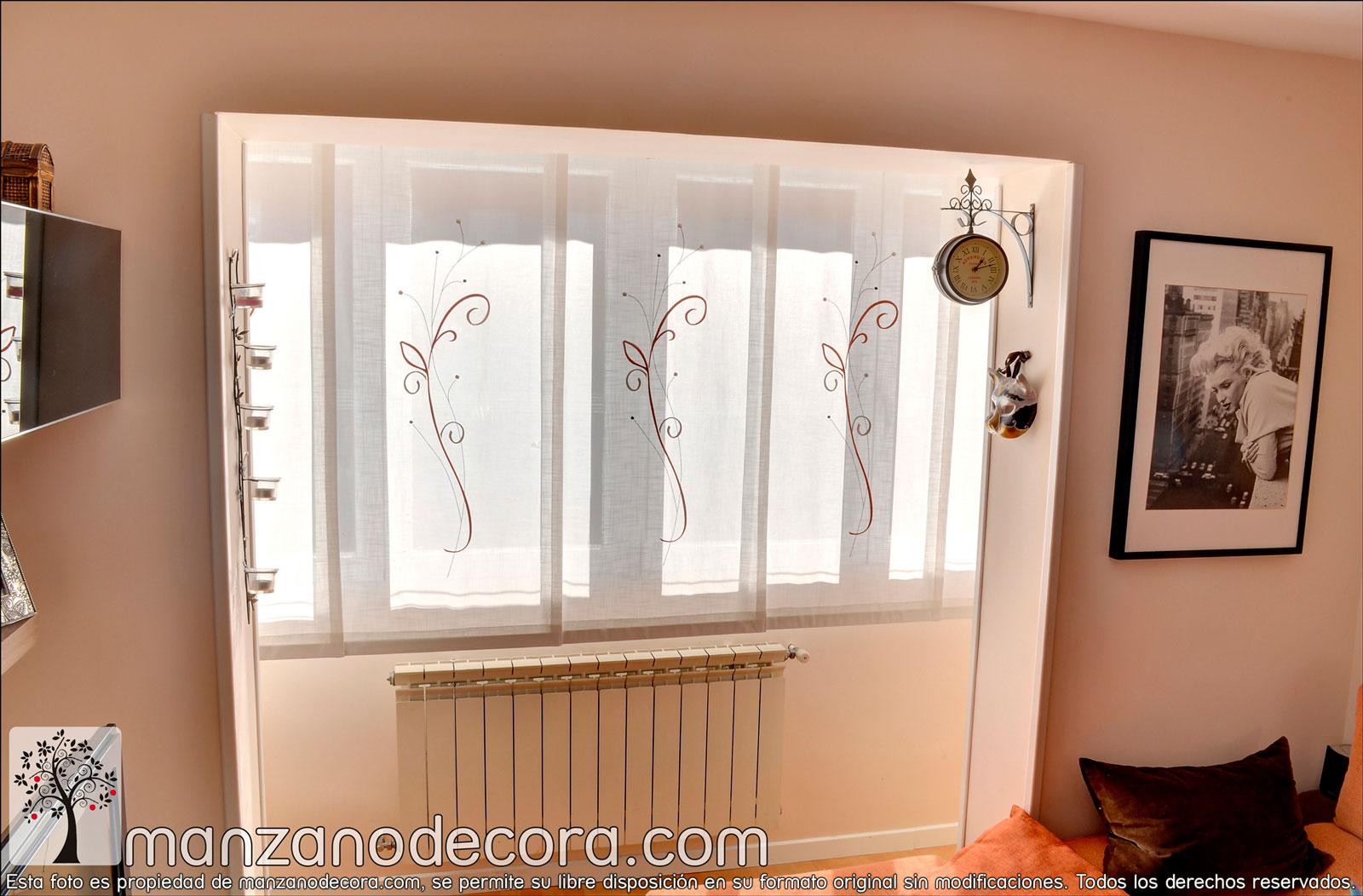 Paneles japoneses cortinas manzanodecora - Modelos cortinas salon ...