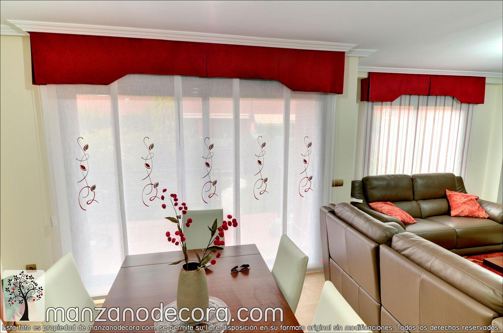 Paneles Japoneses Bordados Cortinas Manzanodecora - Estores-japoneses-fotos