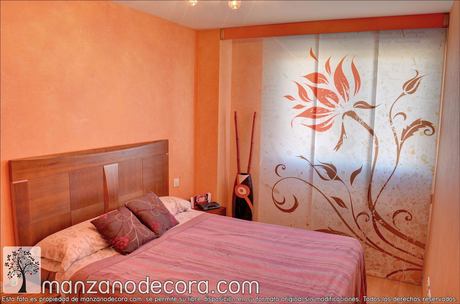 Paneles japoneses cortinas manzanodecora for Panel japones blanco y gris