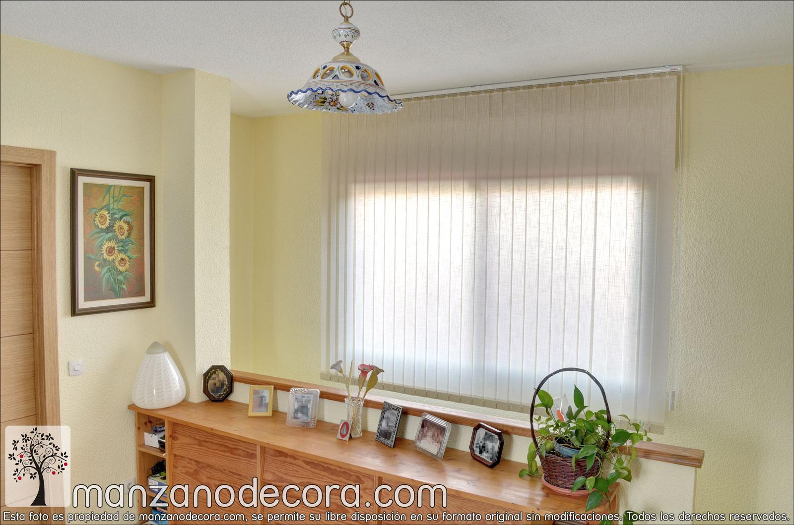 Persianas venecianas de tejido cortinas manzanodecora - Cristales para puertas de salon ...