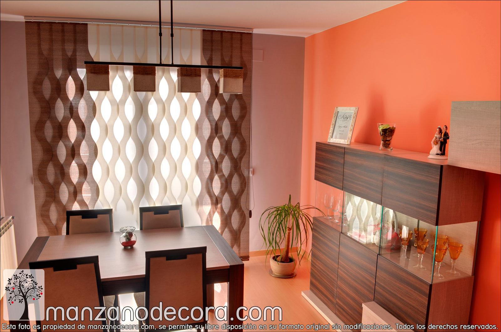 Persianas venecianas de tejido cortinas manzanodecora - Persianas venecianas verticales ...