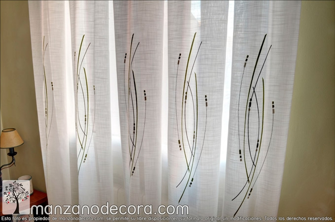 Cortinas bordadas