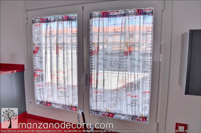 cortina para cocina en detalle