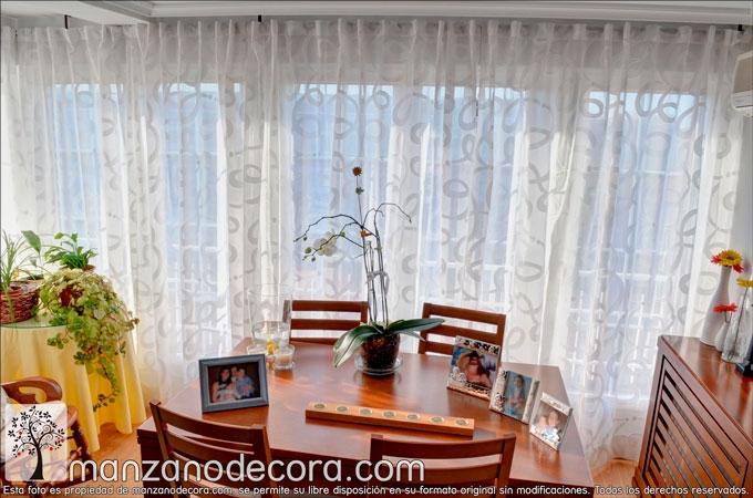 Ideas de cortinas para sal n cortinas manzanodecora - Cortinas estampadas para salon ...