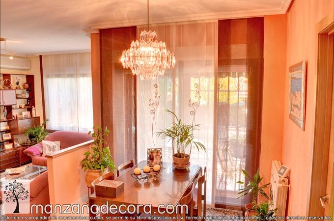 cortina japonesa rayas