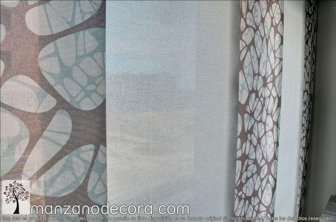 detalle de panel japones estampado y liso