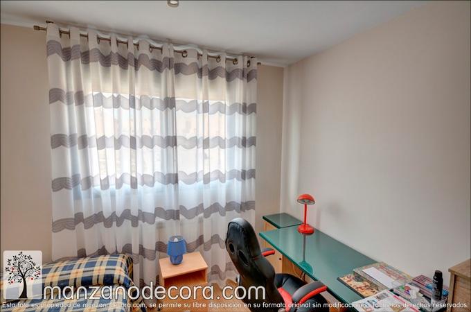 cortina de ollaos en dormitorio auxiliar