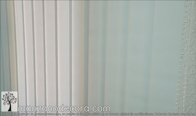 Detalle de cortina vertical para despacho
